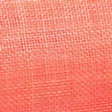 Coral Pink Sinamay